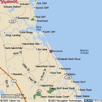 Scituate, Humarock MA vacation rental - Map of Humarock