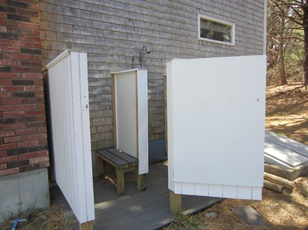 Eastham Cape Cod vacation rental - Outside Shower, hot & cold water with changing area.