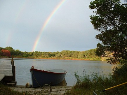 Eastham Cape Cod vacation rental - Pond, dock, 14 ft. boat and Rainbow!!