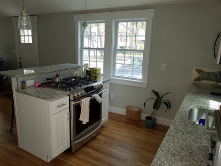 Dennisport Cape Cod vacation rental - Stove area / kitchen.