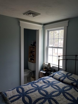 Dennisport Cape Cod vacation rental - Master bedroom half bath.