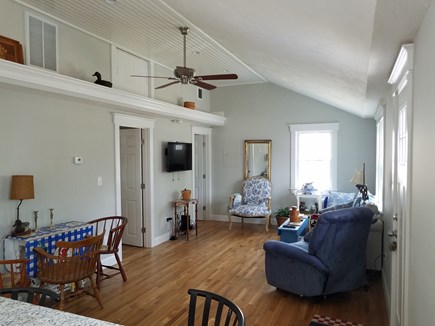 Dennisport Cape Cod vacation rental - View of living room / dining area from kitchen.