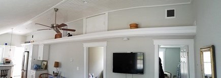 Dennisport Cape Cod vacation rental - Living room, view from the couch.