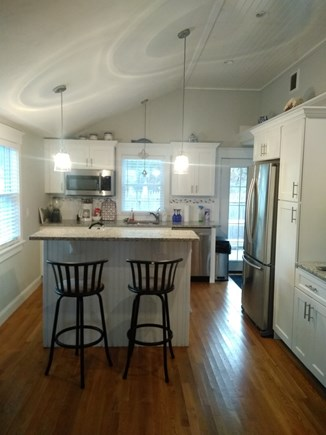 Dennisport Cape Cod vacation rental - View of kitchen from living room.