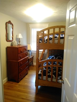 Dennisport Cape Cod vacation rental - Bedroom with bunk beds.