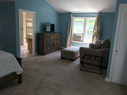 North Eastham, bayside Cape Cod vacation rental - Master sitting area and bath (whirlpool tub and separate shower).