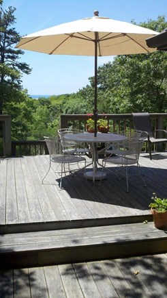 Truro Cape Cod vacation rental - A sunny day on the deck