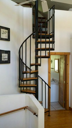 Truro Cape Cod vacation rental - Spiral stairs to loft