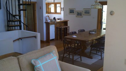 Truro Cape Cod vacation rental - Dining area and kitchen