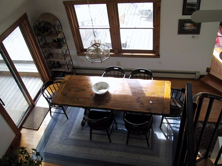 Truro Cape Cod vacation rental - Dining area from loft.