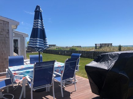 South Yarmouth/Bass River Cape Cod vacation rental - Deck/Gas grill/backyard