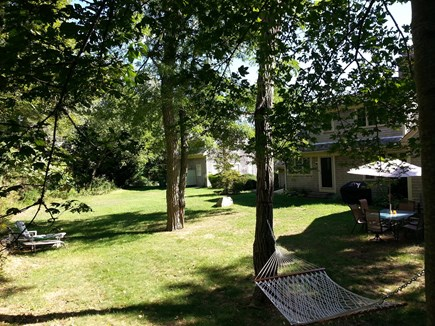 Brewster Cape Cod vacation rental - Large backyard w grill, hammock, & outdoor shower