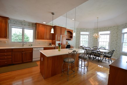 Osterville Osterville vacation rental - Breakfast/dining nook overlooking back yard and pool