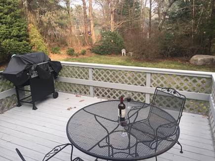 Bourne, Pocasset Cape Cod vacation rental - Private deck and yard