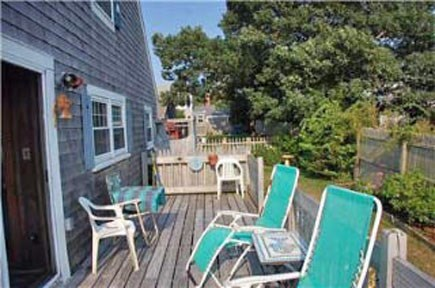 East Falmouth Cape Cod vacation rental - Backyard section of wrap-around deck
