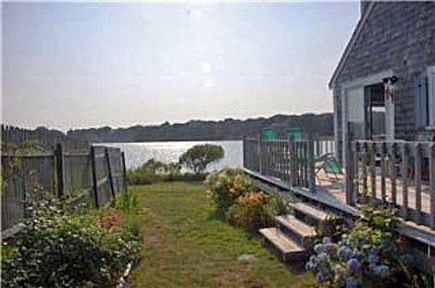East Falmouth Cape Cod vacation rental - Back deck view from backyard
