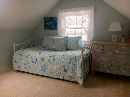 East Falmouth Cape Cod vacation rental - Large upstairs bedroom with trundle bed (2 twin)