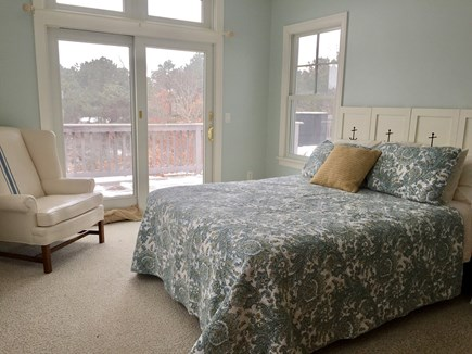 Eastham Cape Cod vacation rental - Master Queen bedroom freshly painted with peeks of the bay.