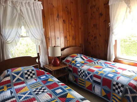 South Yarmouth Cape Cod vacation rental - Twin bedroom w brand new mattresses, fan, closet