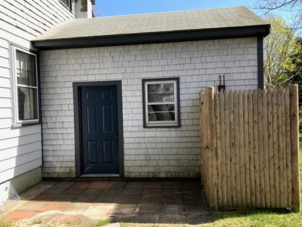 South Yarmouth Cape Cod vacation rental - Outdoor shower-everyone's favorite after the beach (clothesline)