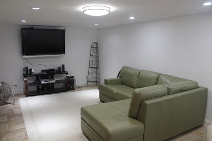 Eastham Cape Cod vacation rental - Basement media room