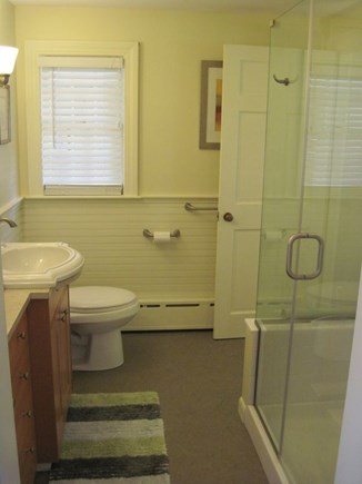East Orleans Cape Cod vacation rental - New Beautiful Bath with Tiled Frame-less Glass Shower