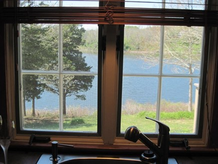 East Orleans Cape Cod vacation rental - Great Pond View through Screened Kitchen Window