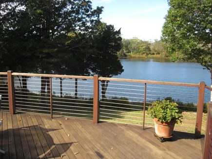 East Orleans Cape Cod vacation rental - Enjoy the pond view from the deck