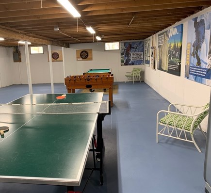 Orleans Cape Cod vacation rental - Game room in the basement.
