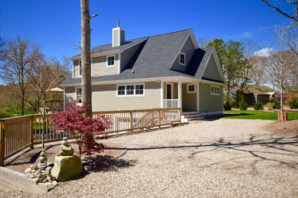 Wellfleet Cape Cod vacation rental - Front entrance of home- 2 driveways