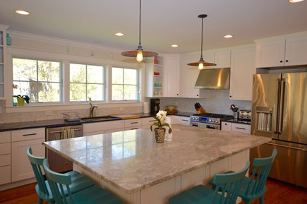 Wellfleet Cape Cod vacation rental - Gorgeous Chef`s Kitchen open to living room and dining room