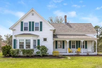 Chatham Cape Cod vacation rental - Home front -- set back from the street, behind a grove of trees