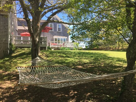 Chatham Cape Cod vacation rental - Relax in a backyard hammock under shade trees
