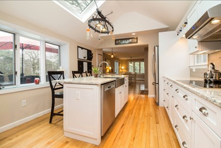 Chatham Cape Cod vacation rental - Kitchen -- all stainless, with white cabinets and granite