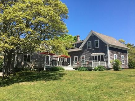 Chatham Cape Cod vacation rental - Half acre back yard, furnished deck, grill, swing & hammock