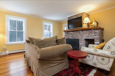Chatham Cape Cod vacation rental - Living room with fireplace