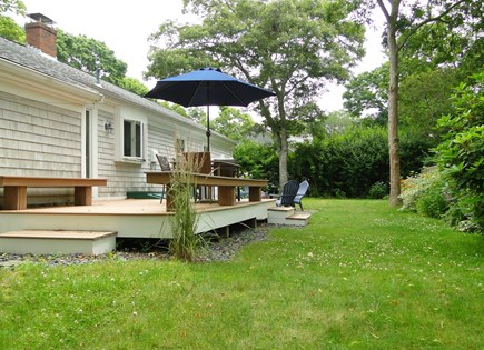 Falmouth Cape Cod vacation rental - Deck area, great for evening dining