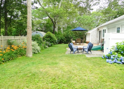 Falmouth Cape Cod vacation rental - Large back yard with outdoor shower, grill and gardens