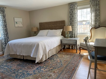 Falmouth Cape Cod vacation rental - Queen bed, desk and chair, reading chair, a/c, closet