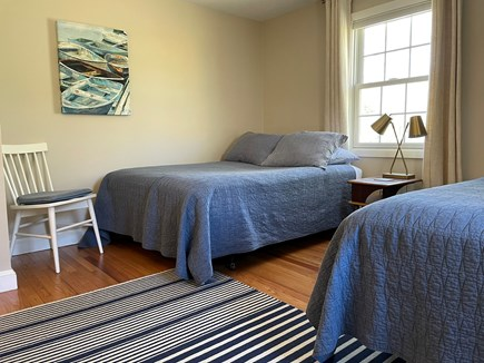 Falmouth Cape Cod vacation rental - Bedroom #2: with two double beds, A/C