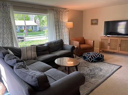 """Falmouth Cape Cod vacation rental - Comfortable and spacious living room, 55"""" smart TV"""