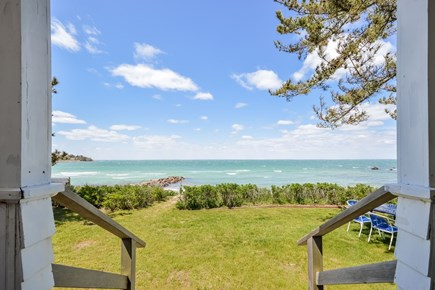 Woods Hole Woods Hole vacation rental - View of the private beach from the back of the house
