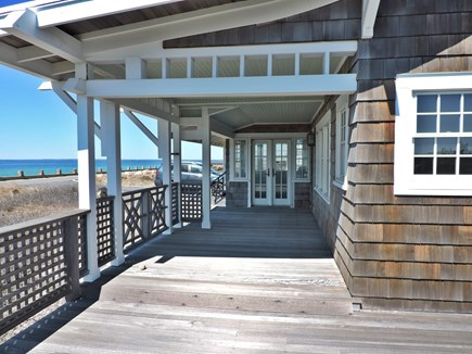 West Falmouth Cape Cod vacation rental - Front Deck