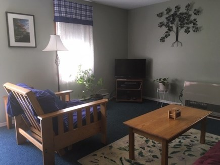 Eastham Cape Cod vacation rental - Living room with flat screen TV, full size futon and futon chair
