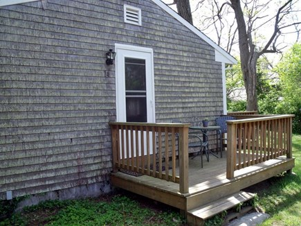 Eastham Cape Cod vacation rental - Private entrance to studio, deck with table and chairs