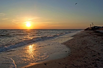 West Falmouth Cape Cod vacation rental - Gorgeous sunset at Chapoquoit Beach