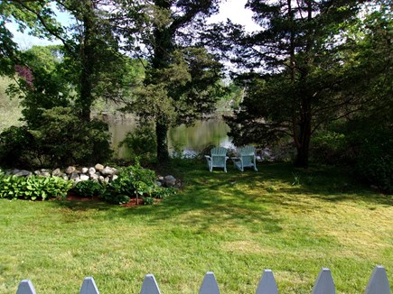 West Falmouth Cape Cod vacation rental - View from the back deck