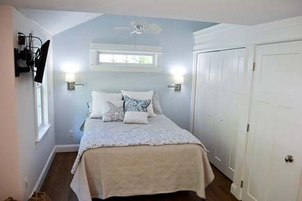 Mashpee, Popponesset Cape Cod vacation rental - Very large master bedroom with large closets and TV.