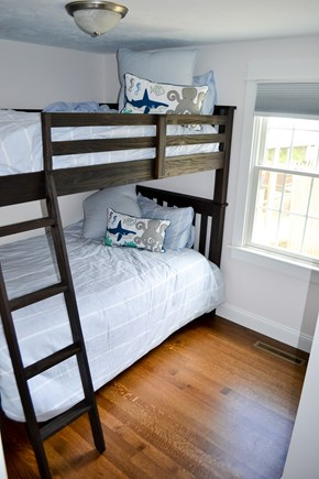 Mashpee, Popponesset Cape Cod vacation rental - 2nd bedroom with double bunk beds and closet (sleeps 4)