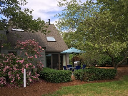 New Seabury, Mashpee New Seabury vacation rental - Your patio from the 12th green.